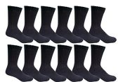 SOCKSNBULK Men's Diabetic Neuropathy Socks - King Size, Black, (12 Pair)