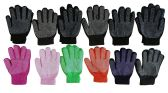 12 Pair Of excell Womens Assorted Color Winter Gripper Gloves