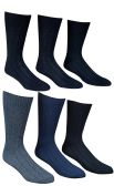 6 Pairs Of SOCKSNBULK Mens Premium Winter Wool Socks With Cable Knit Design (1506),10-13 black,grey,blue 6 pack
