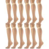 Yacht & Smith Women's Trouser Socks , 20 Denier Knee High Dress Socks Tan 12 pack