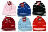 6 Sets Of excell Kids Hat And Matching Glove Winter Set.