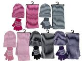 5 Pack Of excell Womens 3 Piece Winter Set, Hat Glove And Scarf