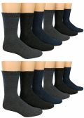 12 Pairs Of SOCKSNBULK Mens Heavy Duty Wool Blend Winter Warm Work Socks