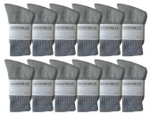 SOCKSNBULK of children's classic crew socks with full cushion cotton blend, Gray, sock size 6-8