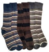 6 Pair Pack Of Nicole Miller Cotton Fashion Dress Socks Stripes Solids And Argyles (JW-10-13-A)