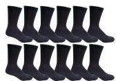 12 Pairs of Excell Athletic Socks Boys, Sports Socks Boys, Cotton Socks for Boys (4-6, Black)