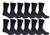 SOCKSNBULK Youth Boy Socks, Cotton Socks for Boys (9-11, Black)