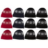 12 Pieces Of excell Mens Heavy Fleece Lined Winter Hat