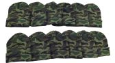 12 Pack of Mens Womens excell Winter Beanie Hats, Toboggan Thermal Sport (One Size, Camoflauge)