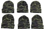 6 Piece excell Camoflauge Military Camo Winter Toboggan Hunter Hat