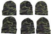 6 Piece SOCKSNBULK Camoflauge Military Camo Winter Toboggan Hunter Hat