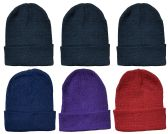 Yacht & Smith Assorted Color Unisex Winter Beanie Hat 6 pack