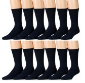 12 Pairs of SOCKSNBULK Mens Diabetic Neuropathy Edema Marled Crew Socks
