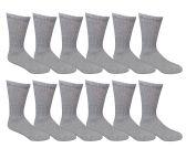 12 Pairs of SOCKSNBULK Womens Cotton Crew Socks, Solid, Ladies Athletic