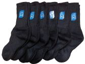 6 Pairs of SOCKSNBULK Childrens Merino Wool Socks, Black, Mens Womens, Sock Size 6-8,shoe size 7.5 - 4