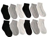 12 Pair Of SOCKSNBULK Kids Assorted Colors Cotton Ankle Socks