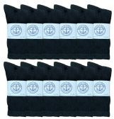 12 Pair of Excell Mens Soft Athletic Sports Quality Crew Socks Ringspun Cotton