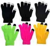 6 Pairs Of SOCKSNBULK Womens Touch Screen Winter Gloves, Texting Gloves