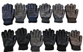 12 Pairs Of Mens excell Winter Heavy Knit Rubber Gripper Gloves
