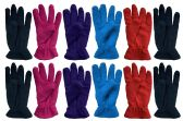 12 Pairs Of SOCKSNBULK Woman's Warm Winter Fleece Gloves,Assorted,One Size
