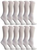 6 Pair Of SOCKSNBULK Ladies White Diabetic Neuropathy Socks, Sock Size 9-11