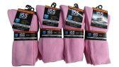 6 Pair Of excell Ladies Pink Diabetic Neuropathy Socks, Sock Size 9-11