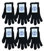 6 Pairs of excell Black Magic Gloves, Mens Womens