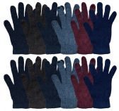 12 Pairs Of SOCKSNBULK Solid Color Wool Gloves - Mens Womens, Stretchy so One Size