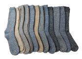 Merino Wool Socks, Unisex Trail Hiking Socks, Warm Camping Backpacking Travel (10-13 (Mens), 12 Pairs Assorted (B))