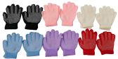 12 Pair Of excell Childrens Assorted Color Winter Gripper Gloves