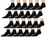12 Pair Pack Of SOCKSNBULK Kids Cotton Low Cut Cotton Ankle Socks (6-8, Black)