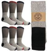 Yacht & Smith Men's Winter Thermal Tube Socks Size 10-13 120 pack