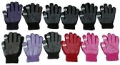 12 Pair SOCKSNBULK Womens Winter Gripper Glove With Pop Off Fingers For Texting