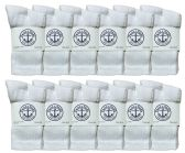 12 Pairs of Kids Sports Crew Socks, Wholesale Bulk Pack Athletic Sock for Girls and Boys, by SOCKSNBULK (White, 4-6)