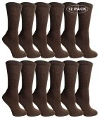 Yacht & Smith Womens Brown Crew Socks, Cotton Size 9-11