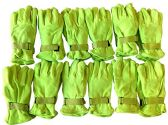12 Pairs Of SOCKSNBULK Neon Yellow Fleece Winter Gloves, Hunting Gloves,