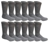 Men's Dark Gray Cotton Crew Sock Size 10-13 240 pack
