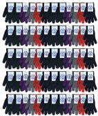 60 Pack Mens and Womens Warm And Stretchy Winter Gloves Bulk Wholesale (Assorted)