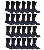 Men's Black Cotton Crew Sock Size 10-13 - Mens Crew Socks 240 pack