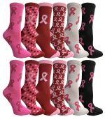 Assorted Printed Breast Cancer Awareness Socks 360 pack