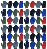 Yacht & Smith Kids Warm Winter Colorful Magic Stretch Mittens Age 2-5 BULK PACK 36 pack