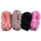 12 Pairs of WSD Womens Cozy Slipper Socks or Boot Sock, Sherpa Lined Warm Winter Gift (Small/Medium)