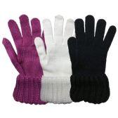 3 Pack Womens Chunky Knit Cuff Warm Winter Glove