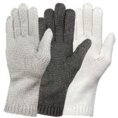 3 Pack excell Womens Cable Knit Warm Long Cuff Elegant Fashion Gloves (Pack A)
