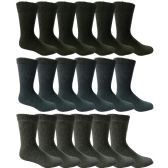 18 Pairs of Mens Steel Toe Socks, Thick Boot Sock, Heavy Duty Industrial Work, Crew and Ankle (10-13)