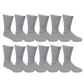 Wholesale Sock Deals Womens Ringspun Cotton Crew Socks, Gray, 9-11
