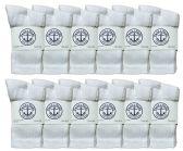 Yacht & Smith Kids Premium Cotton Crew Socks White Size 4-6 12 pack