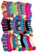 Womens Fuzzy Socks (30 Pairs) Soft Warm Winter Comfort Socks Multicolor, by SOCKSNBULK