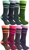 8 Pairs of Thermal Tube Socks, Warm Terry Cushioning Boot Sock, Mens or Womens by WSD (9-11, Assorted A)