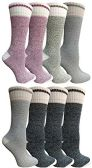 8 Pairs of Thermal Tube Socks, Warm Terry Cushioning Boot Sock, Mens or Womens by WSD (8 Pairs Assorted C, Womens 9-11)